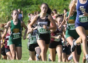 (Brad Davis/For LootPress) Runners from various schools take off from the start of the high school girls portion of the Chic-Fil-A Invitational Saturday morning at Beckley-Stratton Middle School.