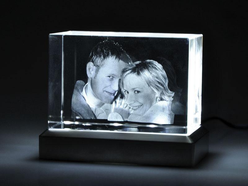 Leuchtsockel Argon fr 3D Glas Fotos  Looxisde