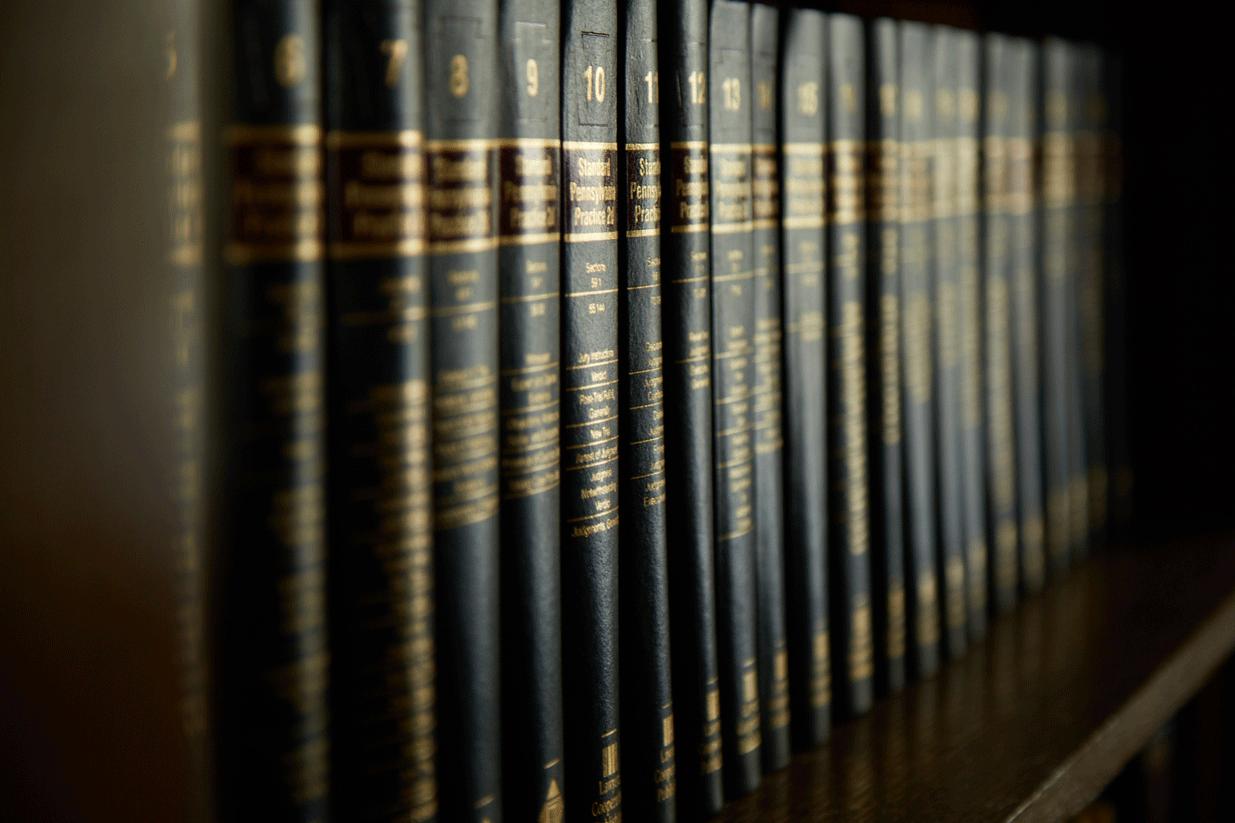 header image with law books lope casker