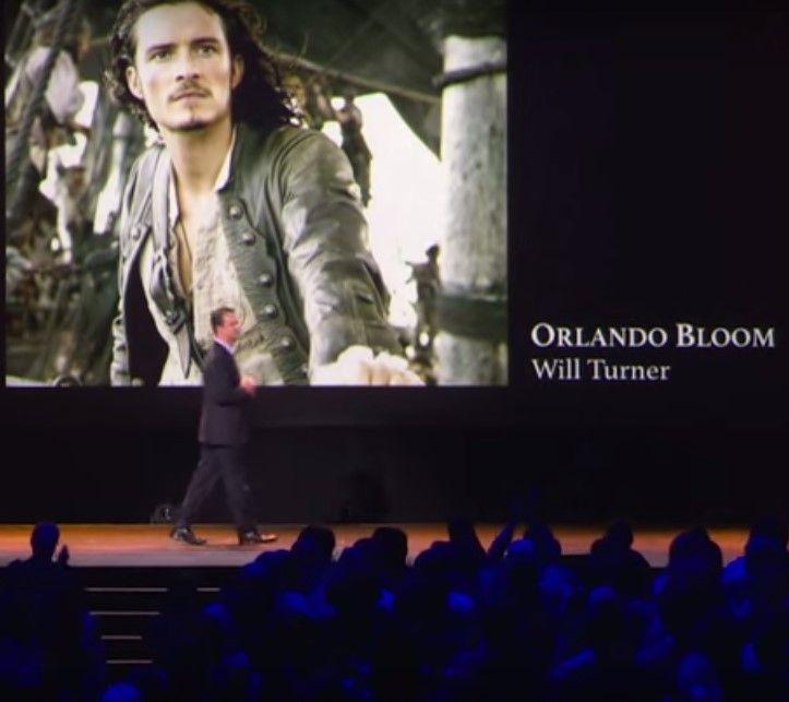 Presentación de Orlando Bloom en la nueva película de Piratas del Caribe