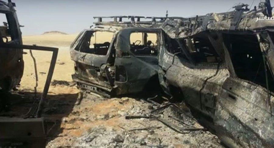 Camionetas de turistas mexicanos en Egipto