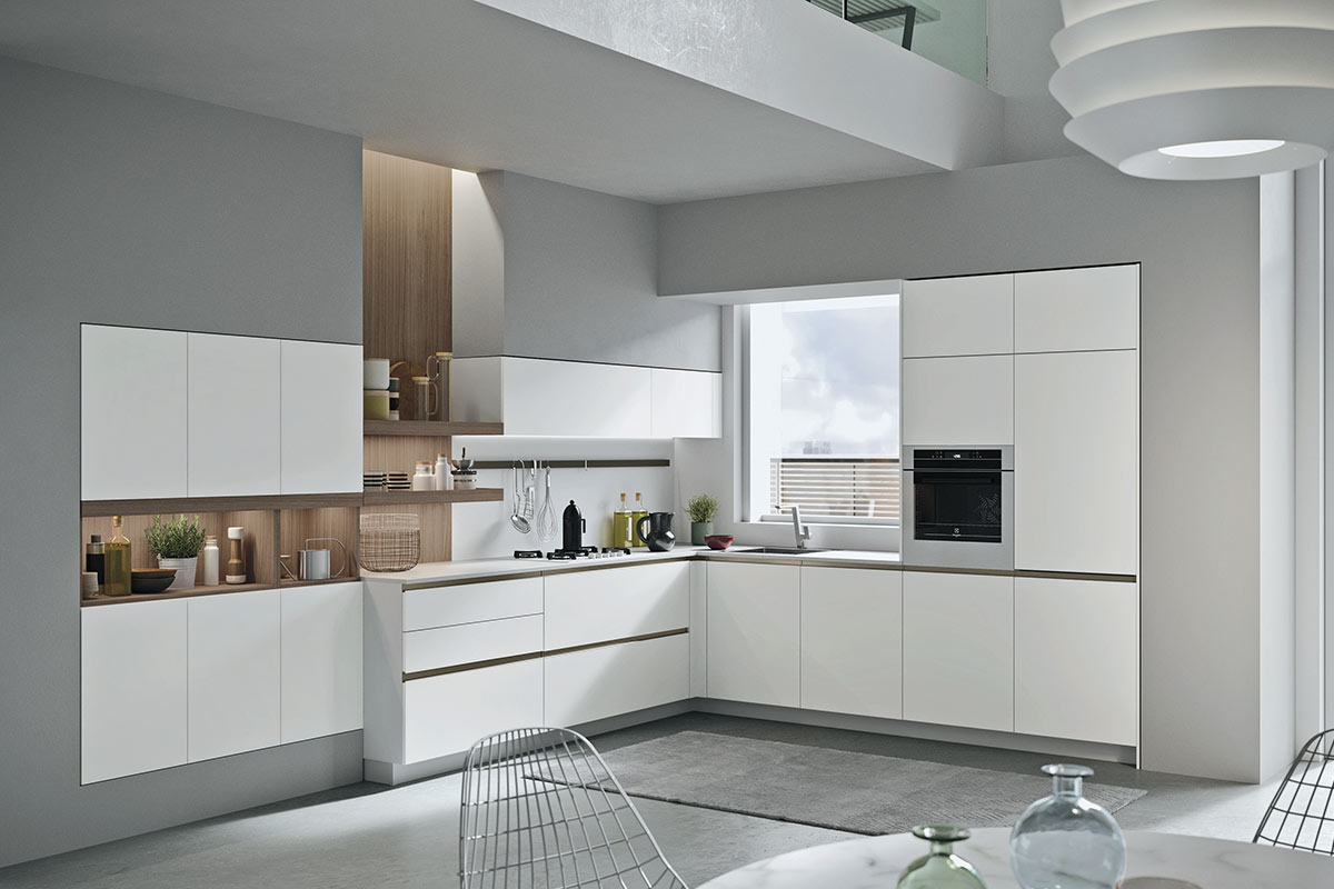Cucine moderne componibili Easy Lops Progetto Joy  cucine