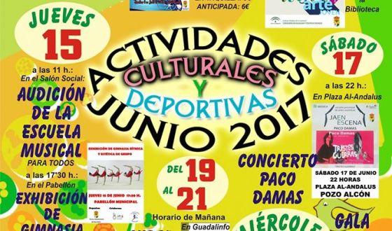 Actividades culturales y deportivas Junio 2.017