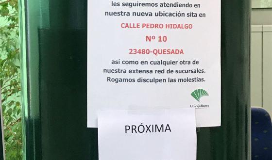 Unicaja reorganiza el funcionamiento de su oficina en Pozo Alcón a partir del 20 de Junio
