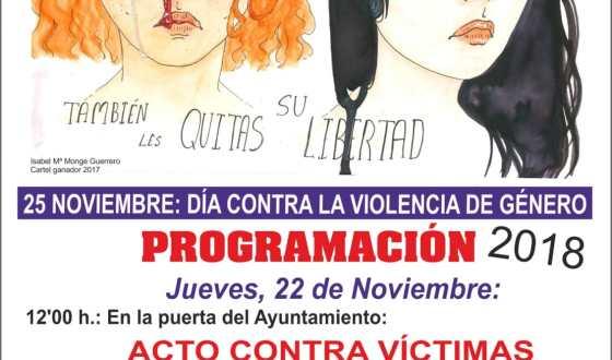 Actos con motivo del día contra la violencia de género