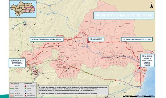 La Subdelegación del Gobierno en Granada  informa favorablemente a la utilidad pública de la Línea 400kV