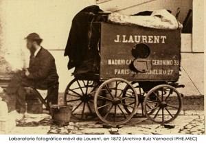 Jean Laurent y su carromato laboratorio