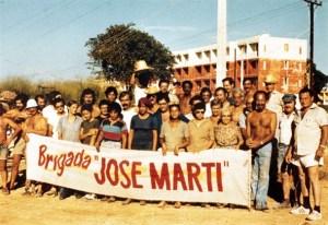 """Miembros de la Brigada """"José Martí"""""""