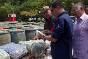 En el Estado Zulia se incautaron 63 mil litros de combustible y 10 toneladas de alimentos. Foto: AVN