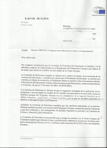 petición-PE-Cristina Calandre-LoQueSomos