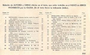 Relación de algunos libros prohibidos