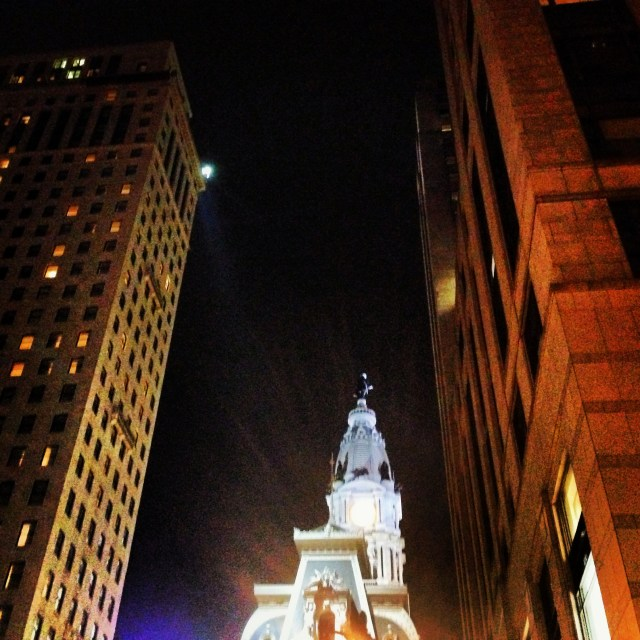 looking up in Philly