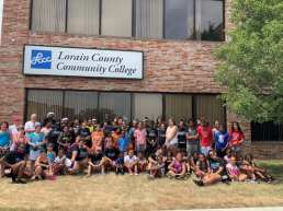 Participants at the LCCC/USTA Tennis Play Days