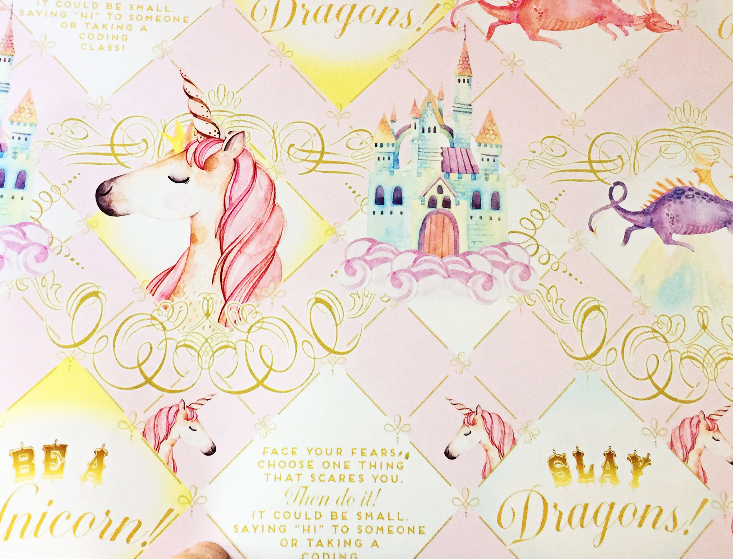 New Unicorn Wrapping Paper Collection Loralee Lewis