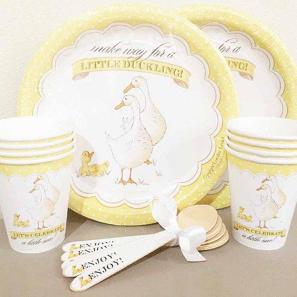 Duckling Paper Dinnerware Set