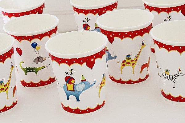 Animals on Parade Paper Dinnerware Set