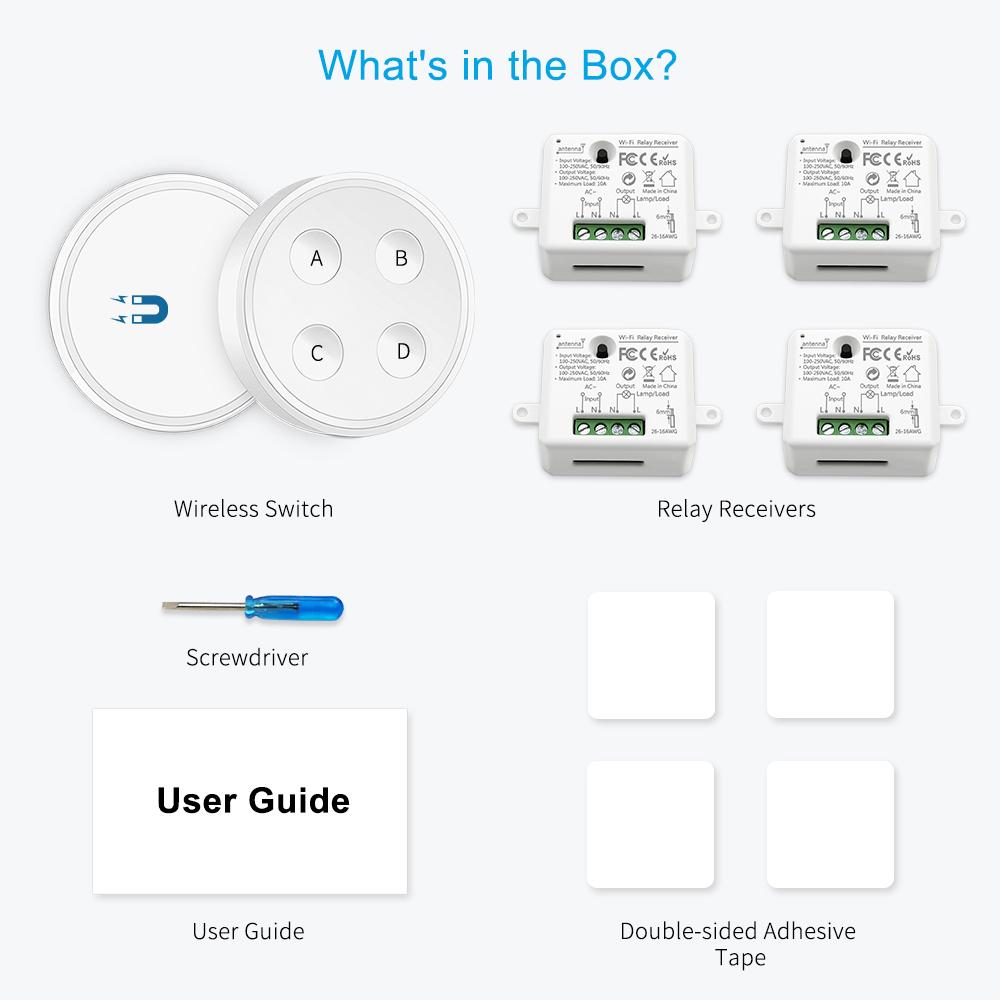 Tuya Smart Life APP Remote Control Wifi Light Switch Timer