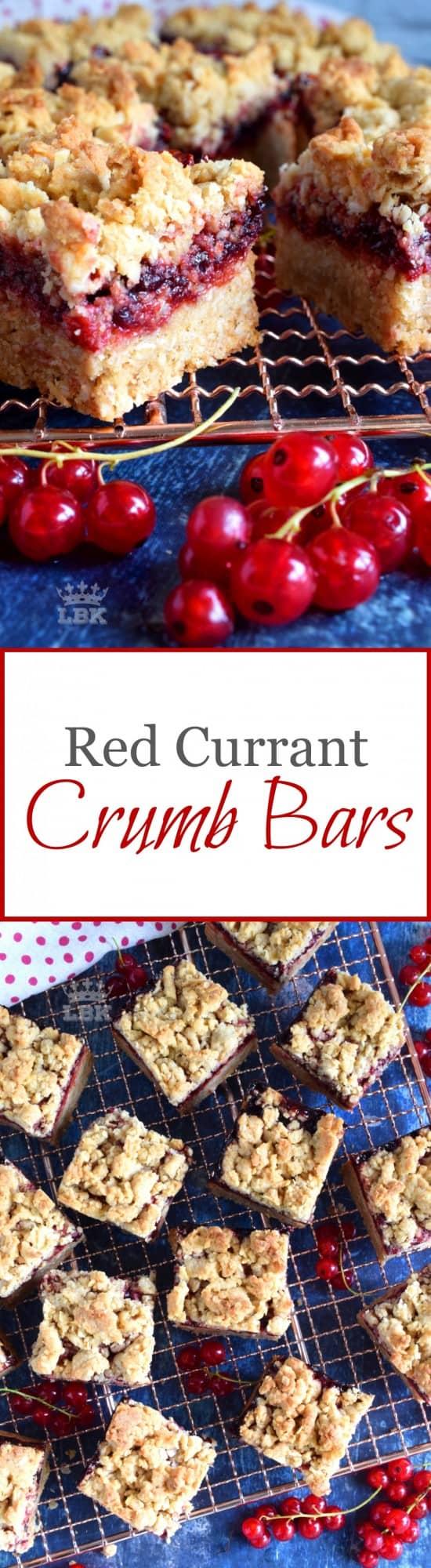 Red Currant Crumb Bars