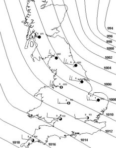 Isobars on  synoptic chart also atmosphere climate  environment information programme rh lordgrey