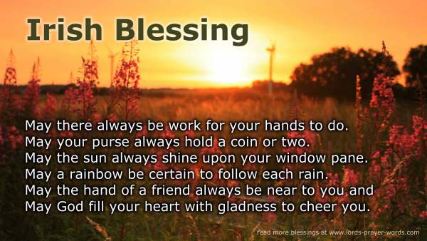 4 Irish Blessings including May The Road Rise Up To Meet You  Celtic Prayer