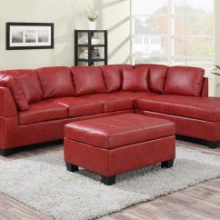 Red Sectional Sofa Chaise Cord Bed Softline New Jersey With Only In