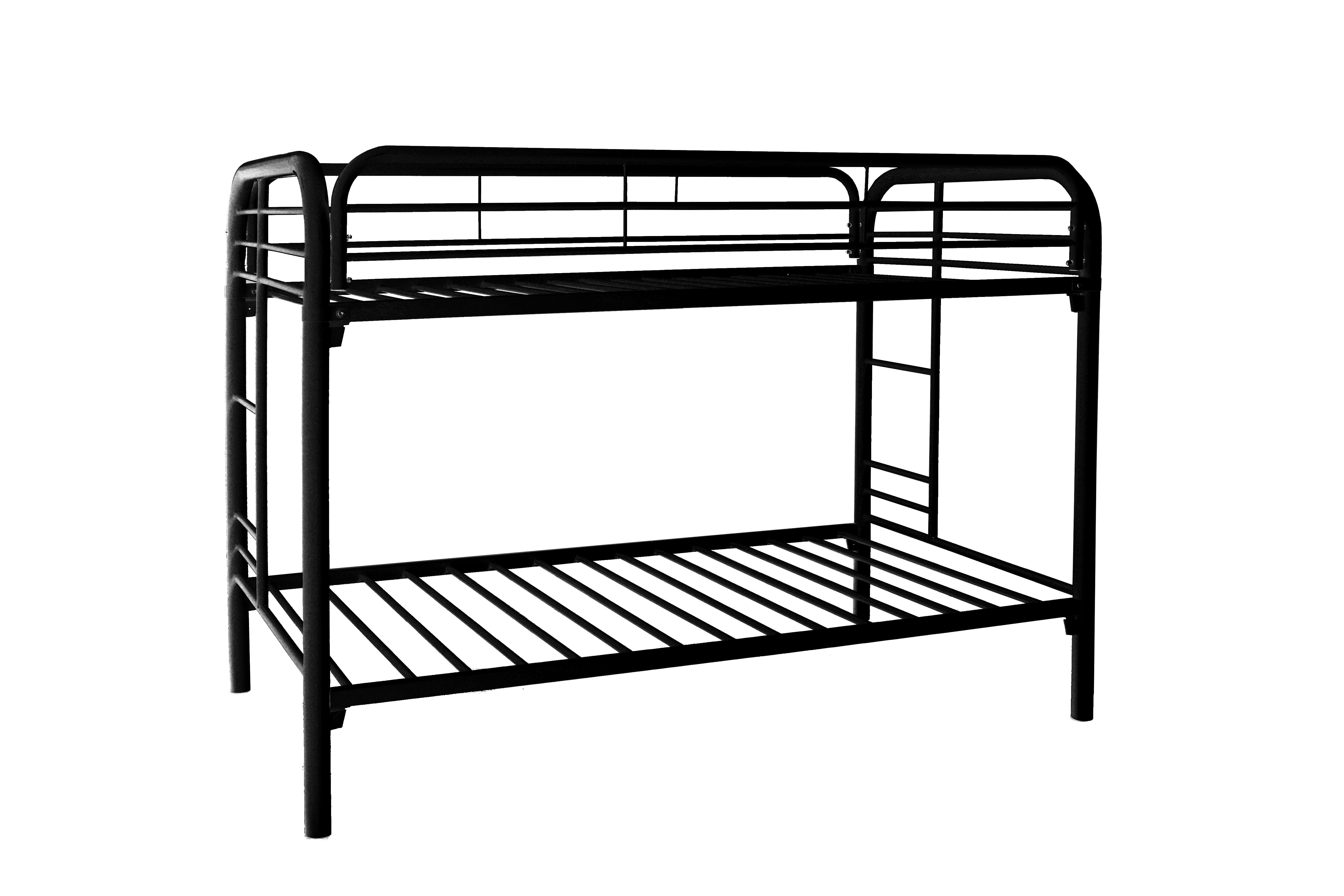 Black Metal Twin Twin Bunk Bed Frame