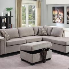 2 Piece Brown Leather Sofa Craigslist Sofas And Loveseats Thornhill Sectional With Storage Ottoman In
