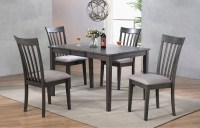 "DELFINI 48"" BF LEAF LEG TABLE & 4 DINING CHAIRS BY WINNERS ..."