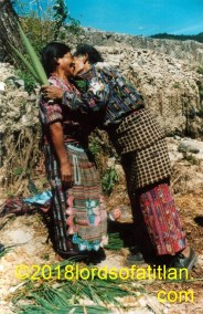 Often Maya are ashamed to show affection in public, but not this pair from Tierra Linda, Aldea Sacsiguán, Sololá in Panajachel.