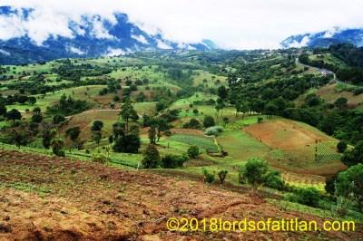 View of Rural San Antonio Palopó including parts of San José Xiquinabaj, Ojo de Agua, Tzancorral, Chutulul, and Sector San Carlos, Aguas Escondidas