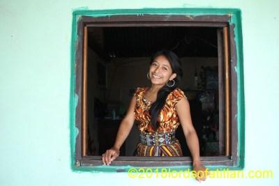 Girl in window, San Pedro la Laguna