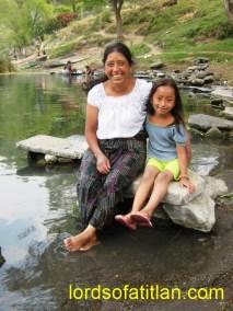 Ana Campa and daughter China, San Lucas Tolimán
