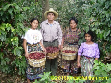 This family is from Colonia Pampojilá but picks coffee on their own terrain in in San Martín, San Lucas Tolimán