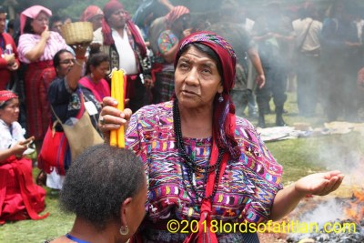 Maya ceremony for Waqxakib' B'atz (number 8), the Maya New Year, Iximché, Tecpán, Chimaltenango Number 8 signifies new beginning, infinity, spirituality, art and fun.