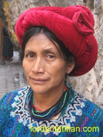 This woman was from Santa Catarina Palopó but is now deceased.
