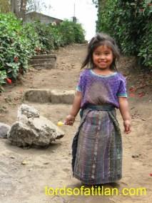 This girl is from San Martín, San Lucas Tolimán but wears a huipil of San Antonio Palopó.