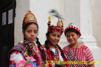 Again to illustrate the linguistic wealth of Guatemala are three queens representing three idioms: k'iche', poqomam, and kaqchiquel.
