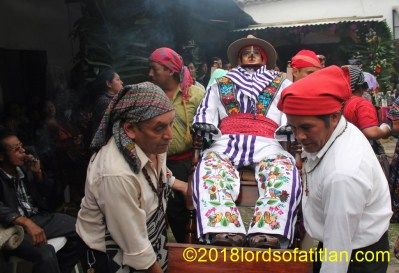 The fiesta of Aloc Mam or Mamximón (Maximón), the names the k'iche's call him. Here he boasts the traje of Zunil.