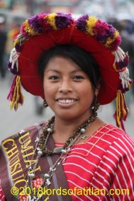 Indigenous queen of Chuisuc Olintepeque, department of Quetzaltenango. She therfore speaks kiche´.