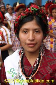 Indigenous queen of San Martín Chile Verde, Quetzaltenango, who, therefore, speaks mam.
