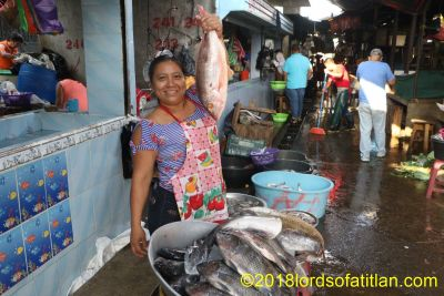 Although the fish mostly come from Champerico, the fish market of Mazate is the place to buy.