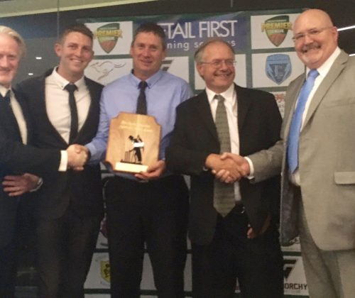 New Town Cricket Club 2016-17 LTT Spirit of Cricket Award Winners