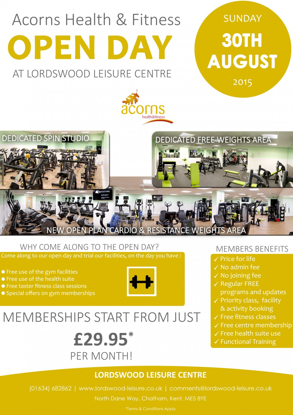 Gym Open Day Lordswood Leisure Centre