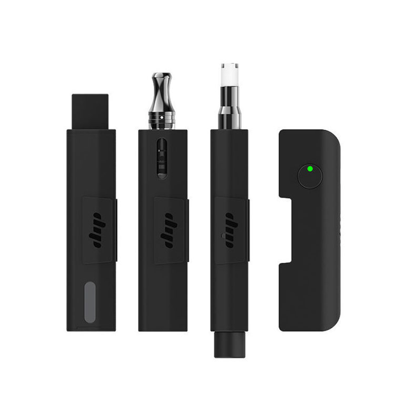 Dipstick Evri Starter Pack for pods, 510 thread oil cartridges and concentrates dipping and dabbing in black