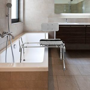 Padded shower chair with cutout seat  LORECENTRAL