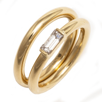 Diamond Baguette Wedding Set