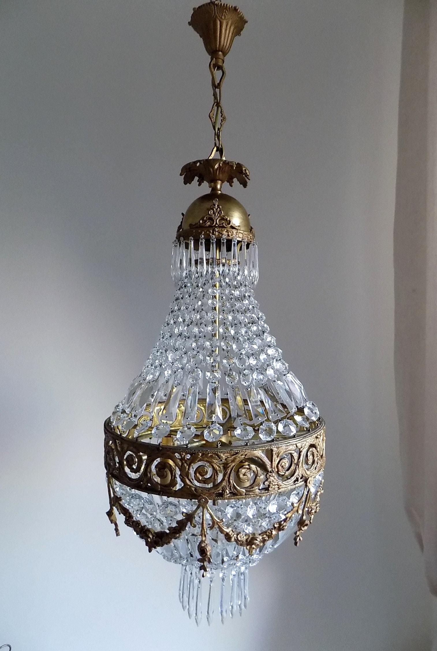 Antique bronze empire style chandelier