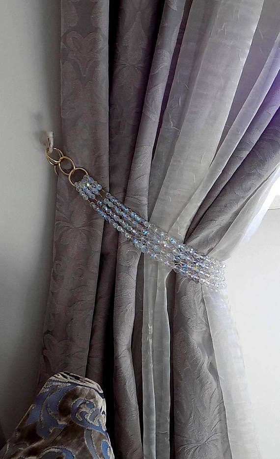 4 strands bohemian crystals curtain tieback