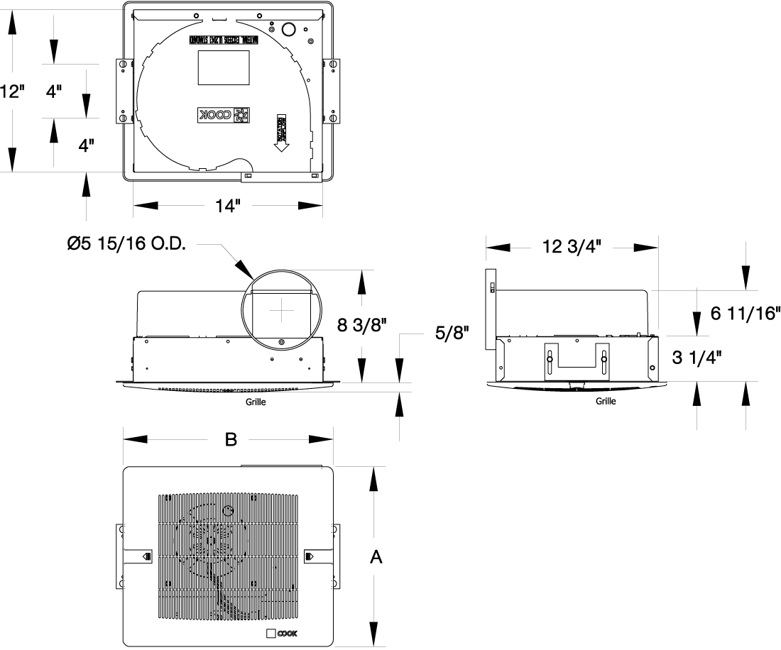 Gemini: Centrifugal Ceiling-Wall Cabinet Fan