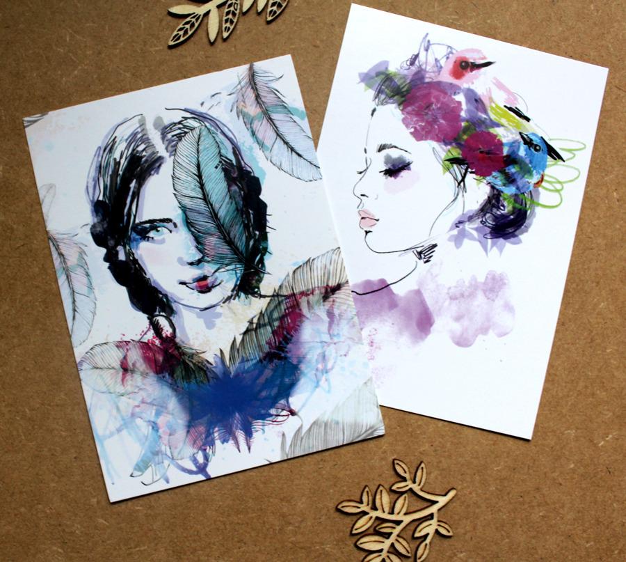 illustrations de portraits graphiques